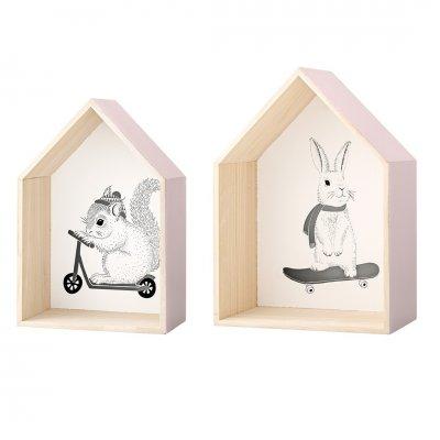 Display houses eekhoorn/konijn
