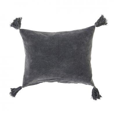 Kussen gevuld grijs (50x40)