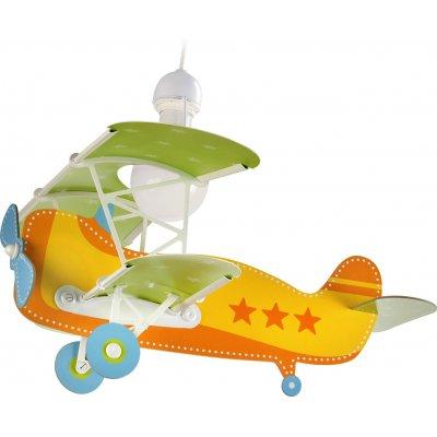 Hanglamp vliegtuig oranje