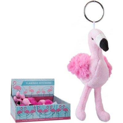 Sleutelhanger knuffel flamingo