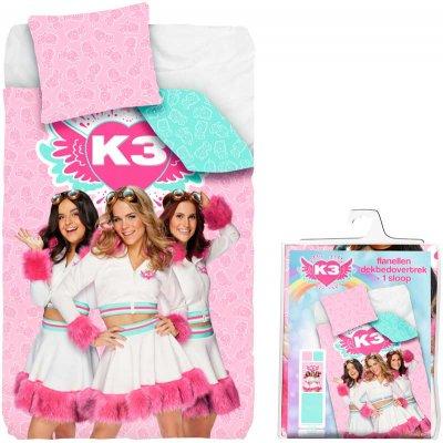 Overtrek éénpersoons k3/roze (140x200)