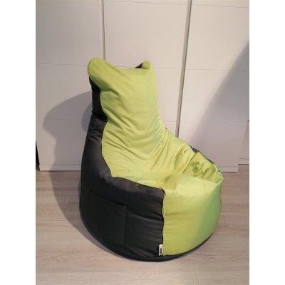 Zitzak duo - stof: nylon - kleur: n2 antraciet / 19 groen