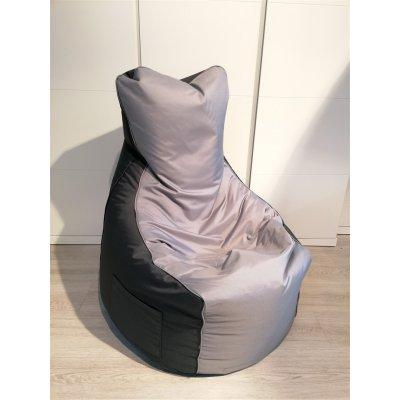 Zitzak duo - stof: nylon - kleur: n2 antraciet / 23 grijs