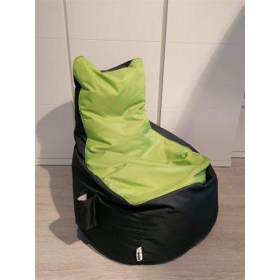Zitzak monza  duo - stof: nylon - kleur: n2 antraciet /29 groen