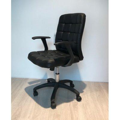 Bureaustoel zwart met armleuningen