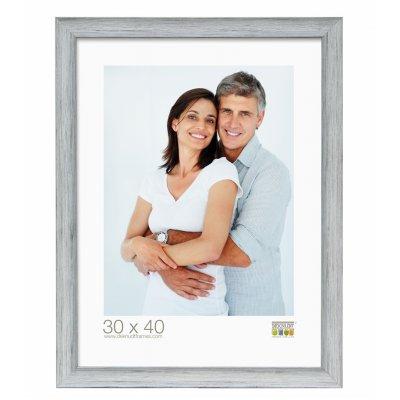 Fotokader grijs gestreept 13x18cm