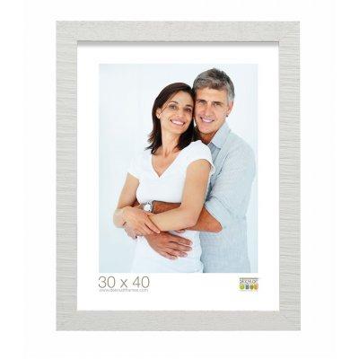Fotokader wit ruw hout 13x18cm