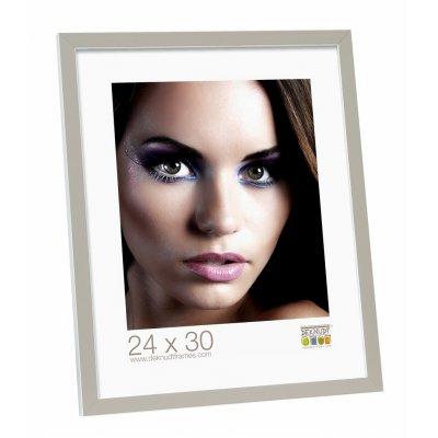 Fotokader grijs/wit hout 13x18cm
