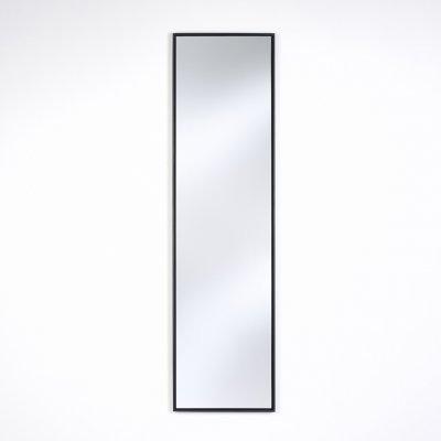 Spiegel lina zwart 35x130cm