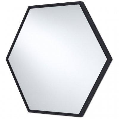 Spiegel lina zwart 52x45cm