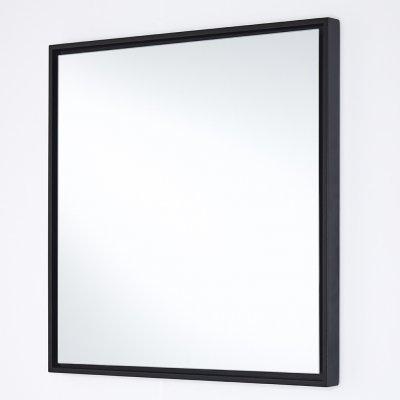 Spiegel lina zwart vierkant 40x40cm