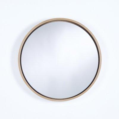 Spiegel radius m eiken 60x60cm