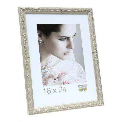 Fotokader zilver kunststof 20x30