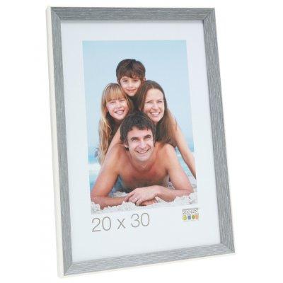 Fotokader grijsblauw/wit 30x40