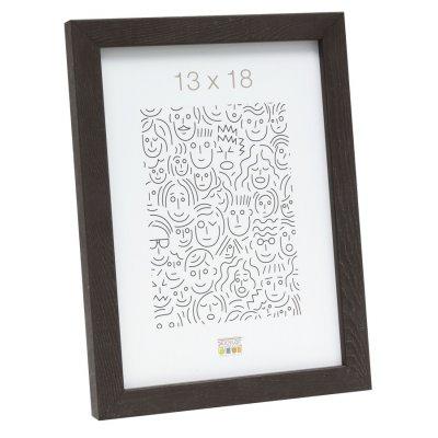 Fotokader donkerbruin 13x18