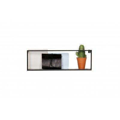 Wandplank 50cm - zwart metaal