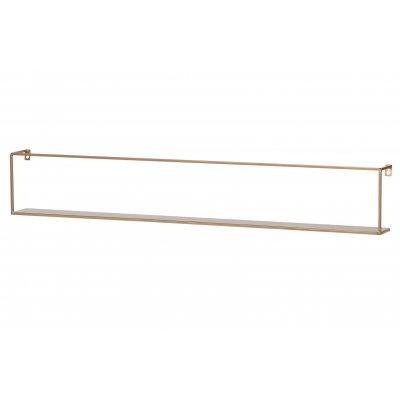 Wandplank 100cm - goud metaal