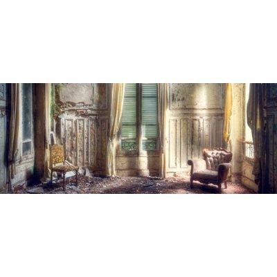 Glaskader room in decay (50x125)