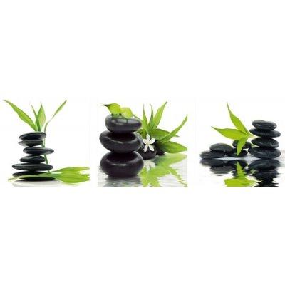 Deco print feng shui balance in green (30x30)