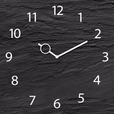 Klok zwart (30x30)