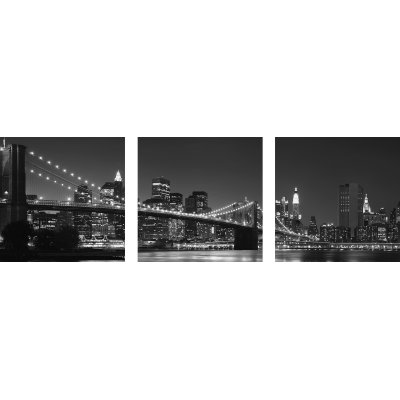 Glaskader manhattan (set van 3)