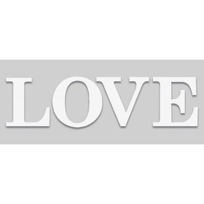 Kader love i wit 25x60cm