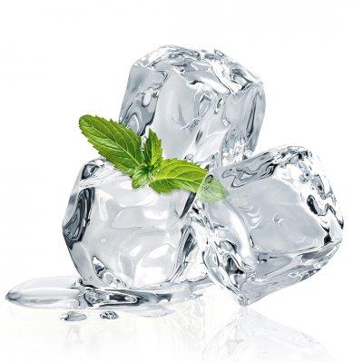 Glaskader ijsblokjes en munt (20x20)
