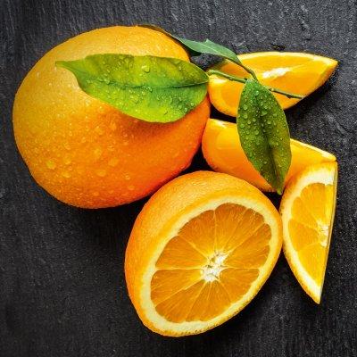 Glaskader sinaasappel (20x20)