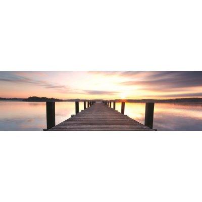 Glaskader (acryl)  zonsondergang (50x180)