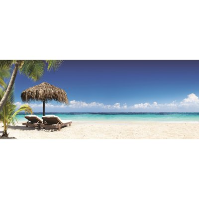 Glaskader parasol en strandstoel (50x125)