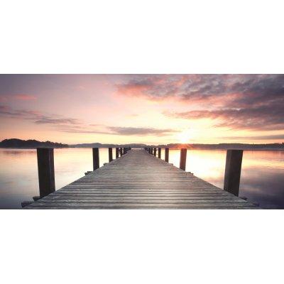 Canvast zonsondergang (55x115)