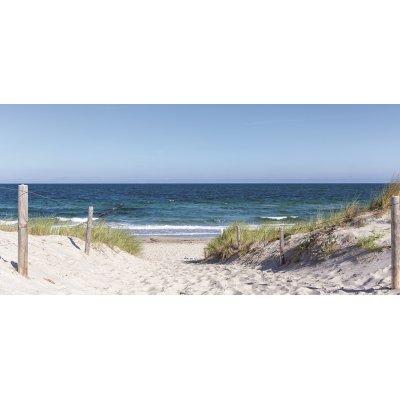Canvas strand met duinen (55x115)