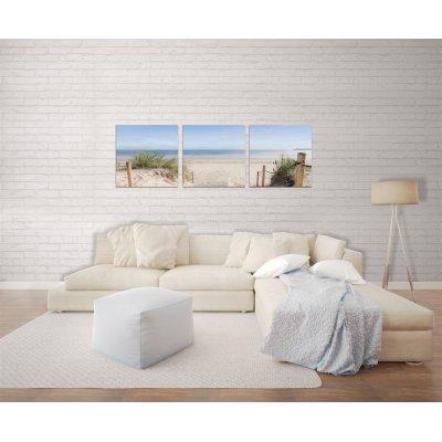 Glaskader strand, zee en duinen (set van 3) (30x30)