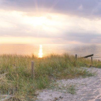 Glaskader zonsondergang duinen (20x20)