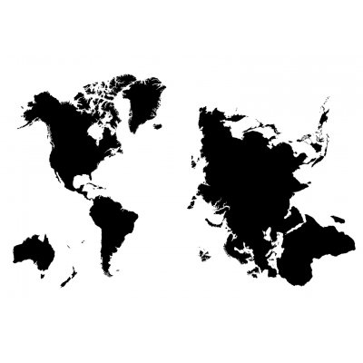 Muursticker wereldkaart (50x70)