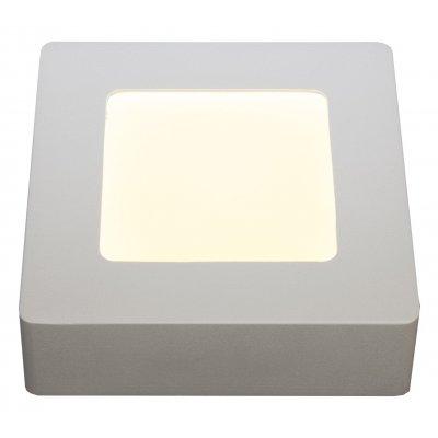 Fluke vierkant plafondlamp  wit incl 6w led
