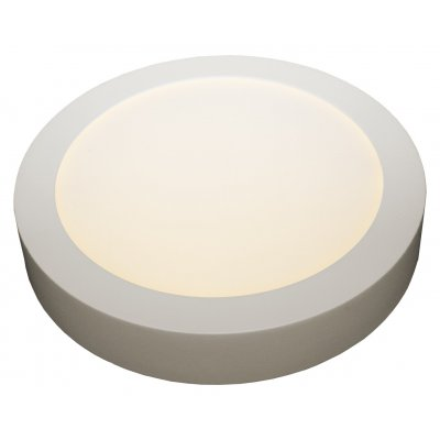 Fluke rond plafondlamp  wit incl 12w led