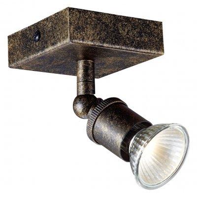 Plafondlamp stuga square-1 staal (incl. led)