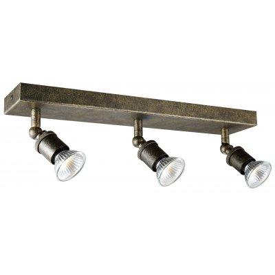 Stuga square plafondlamp spot staal incl 3xg10 5w led dimbaar