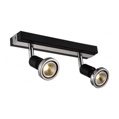 Robus plafondlamp spot 2 zwart incl.led 2 x gu10 5w
