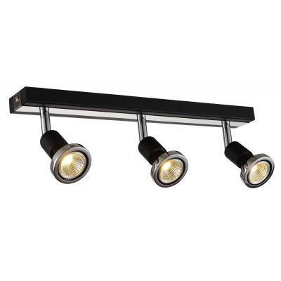 Robus plafondlamp spot 3 zwart incl.led 3 xgu10 5w