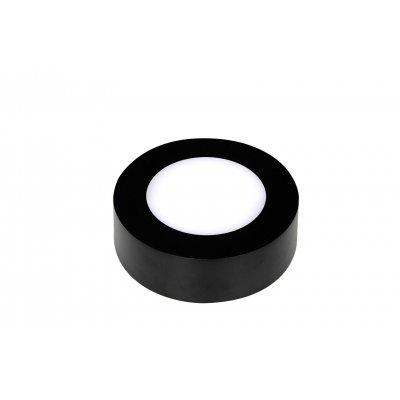 Wandlamp fluke rond-12cm zwart (incl. led)