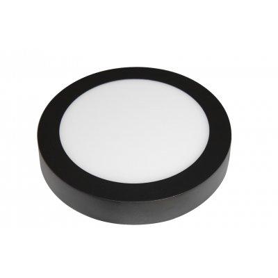 Wandlamp fluke rond-22,5cm zwart (incl. led)
