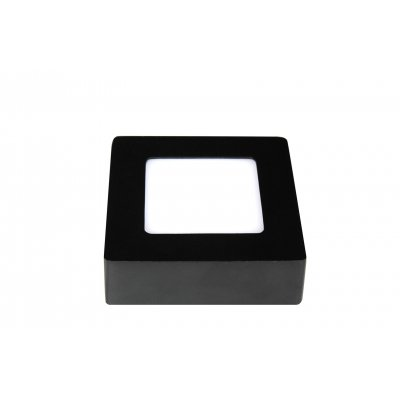 Wandlamp fluke-12cm vierkant zwart (incl. led)