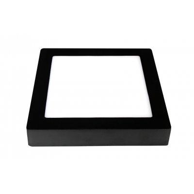 Wandlamp fluke-17,5cm vierkant zwart (incl. led)