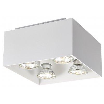 Plafondlamp kubo-4 wit (incl. led)