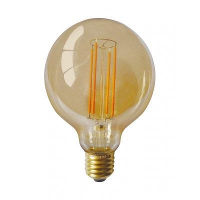 Globelamp rond goud led