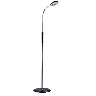 Staanlamp zwart/chroom led