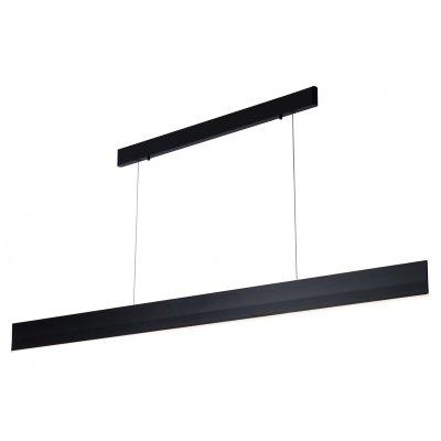 Hanglamp pure-180cm lang zwart (incl. led)