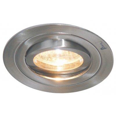 Plafondlamp linux rond sat/nikkel (incl. led)